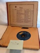 Collectible Vintage Mix Lot Of 8 45rpm Records - Rca Victor In Old Album Holder