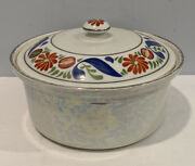 Royal Rochester Fraunfelter Ohio China Baking Casserole Hand Painted Heat Proof