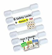 Adjustable Child Safety Locks By Luv4baby - Latches To Baby Proof Cabinets D...
