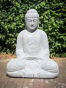 Andesite Stone Buddha Statue From Indonesia