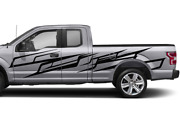 Splash Brush Side Doors Stripes Wrap Decal Sticker For Ford Supercab F150 2020