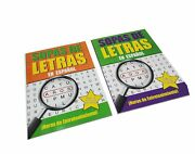 2 Pack - Spanish Word Search Book Jumbo 80 Page Each Easy-to-see Full Page S...