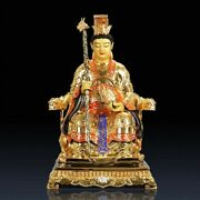 16and039and039 Bronze Gold Drawing Supreme Deity Of Taoism Goddess Queen Empress Statue