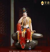 21and039and039 Collection White Porcelain Mineral Pigment Comfortable Guanyin Bodhisattva