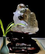 14and039and039 Natural 100 Rock Crystal Quartz China Feng Shui Wealth Animal Tiger Statue
