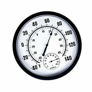 Mumtop Thermometer Indoor Outdoor 10 Patio Large Wall Thermometer And Hygrom...