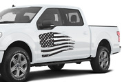 American Flag Side Doors Stripes Wrap Decal Sticker For Ford Supercrew Cab F150