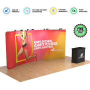 20ft Portable Trade Show Display Booth Exhibition Backdrop Wall With Spotlights