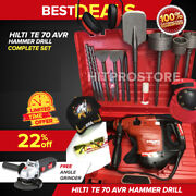 Hilti Te 70 Avr Hammer Drill Preowned Free Angle Grinder Quick Ship