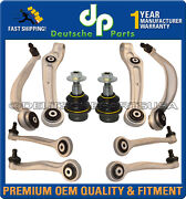 Audi A8 Quattro Front Upper Lower Control Arm Arms Ball Joints Suspension Kit 10