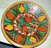 Vintage Plate Earthenware Hand Painted Multan Decorative Collectibles Rare Old