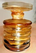 Vintage Perfume Bottle Thick Glass Ribbed With Big Stopper Rare Collectibles Old