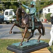 25and039and039 Bronze Sculpture Home Decorate Napoleon Ride A Horse Statue