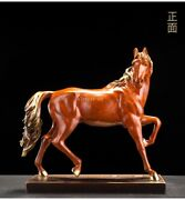 14and039and039 Top Copper Fine Workmanship Blessing Fortune Treasure Animal Horse Statue