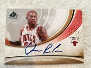Dennis Rodman 2005-06 Ud Sp Game-used Significance Auto Gold 6/10 Sig-dr