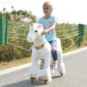 Ufree Ride On Unicorn With Golden Horn Horse Toys As Gift For Kids 4-9 Medium