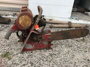 Vintage Lombard Chainsaw Chain Saw With 18andrdquo Bar Very Old Large Heavy