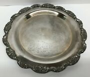 Epca Poole Silver Company 612 Engraved Happy 25th Anniversary Silver Platter