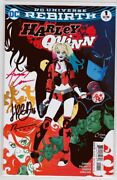 Harley Quinn 1 2016 Signed By Amanda Conner, Jimmy Palmiotti, And Chad Hardin