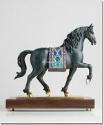 18and039and039 Bronze Copper Carved Home Decor Auspicious Andalusian Horse Statue