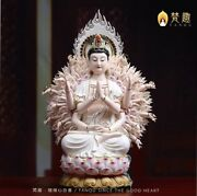 17and039and039collection Painting Porcelain Carved Buddha Head Thousand Arm Avalokitesvara