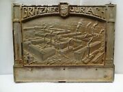 Vintage Gritzner Durlach Advertising Sign German Sewing Machine Cast Iron Plaque