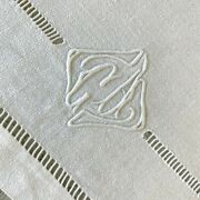 Set Of 12 Holiday Napkins Antique French Trousseau Ca Monogrammed Linens Damask