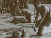 1919practicing The Resuscitation Of Drowned Persons Magic Lantern Glass Slide