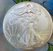 2009 Silver Eagle Coin From Unsearched Roll