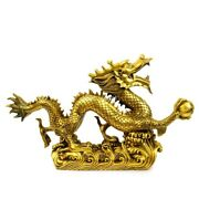 25and039and039 Brass Copper Home Fengshui Decor Treasure Auspicious Beast Chinese Dragon