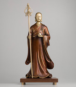 21and039and039 Bronze Brass Copper Freehand Colored Drawing Buddha Ksitigarbha Bodhisattva