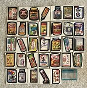 Ultra Rare Vintage Wacky Packages Complete Set 6th Series Peak Condition