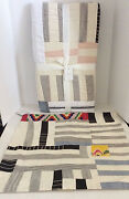 Pottery Barn Pauline Boyd Coastline Patchwork Quilt And Pillow Cover New W/tags