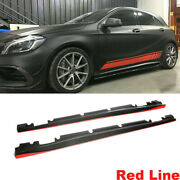 Side Skirts Body Kit Fit For Benz Cla45 Cla250 A200 A250 A45 13-18 Carbon Fiber