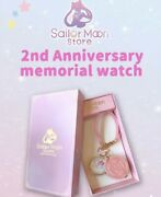 Sailor Moon Store Limited Open 2nd Anniversary Memorial Watch Cutie Moon Rod F/s