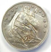 1855-s Arrows Seated Liberty Half Dollar 50c Coin - Anacs Xf40 Details Damage
