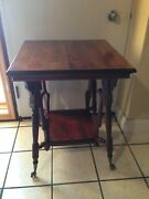 Victorian Parlor Table Antique C.1890 Ball And Claw Feet Glass Ball End