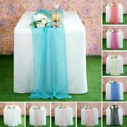 40 Table Runners 22x80 Extra Wide Chiffon Party Wedding Decorations Wholesale