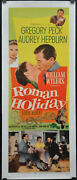 Roman Holiday 1953 Authentic 14x36 Rolled Linebacked Movie Poster Audrey Hepburn