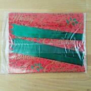Vintage Merry Christmas Wrapping Paper And Pull Bow Set Of 3 By Current- Gift Wrap