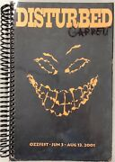 Disturbed Tour Book Itinerary Book 2001 Us Tour Tough To Get Band Number Ozzfest
