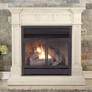 Duluth Forge Dual Fuel Ventless Gas Fireplace - 32000 Btu Antique White Finish