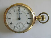 18 Size Waltham Appelton Tracy In Waltham 14 K Gold Box Hinge Pocket Watch Case