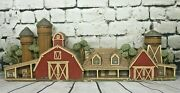 Vintage 1970and039s Apsit Brothers Chalkware Barn 36 Long Stunning Wow Piece