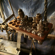 Collet Rack Walnut W/holes R8 And C5 15holes Each. Rack Only Check Discription