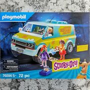 Scooby-doo Mystery Machine With Fred Daphne And Velma Figures By Playmobil 70286