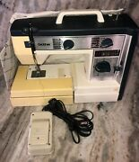 Brother Vx760 Sewing Machine W Pedal And Carrying Case-rare Vintage-ships N 24 Hrs