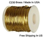 Red Brass Round Jewelers Wire 1 Lb. Spool Dead Soft / Gauges 16 26