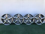 Mercedes Benz Amg E550 E350 18 Genuine Factory Oem Chrome Wheels Rims Set Of 4