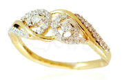 0.92ct Natural Round Diamond 14k Solid Yellow Gold Cluster Ring In Size 7